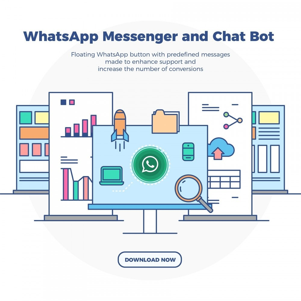 module - Support & Online Chat - WhatsApp Chat - Advanced widgets with agents - 2