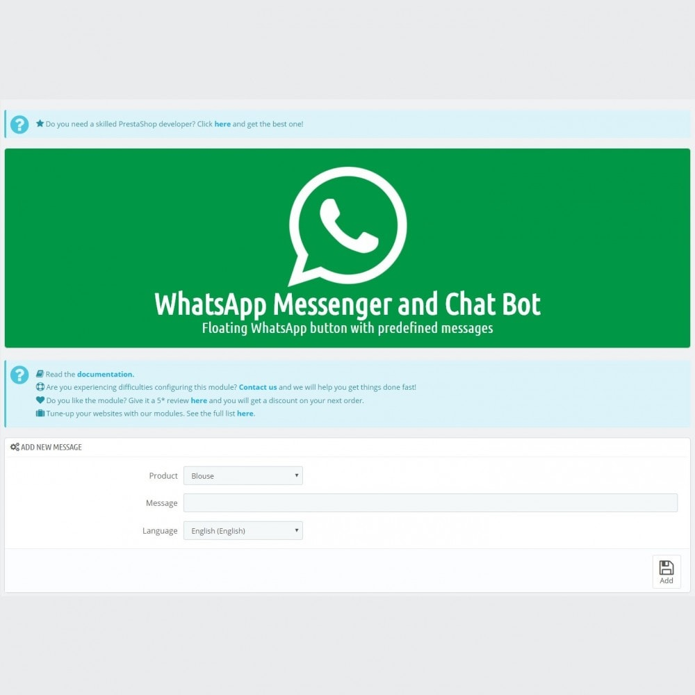 module - Support & Online Chat - WhatsApp Chat - Advanced widgets with agents - 5