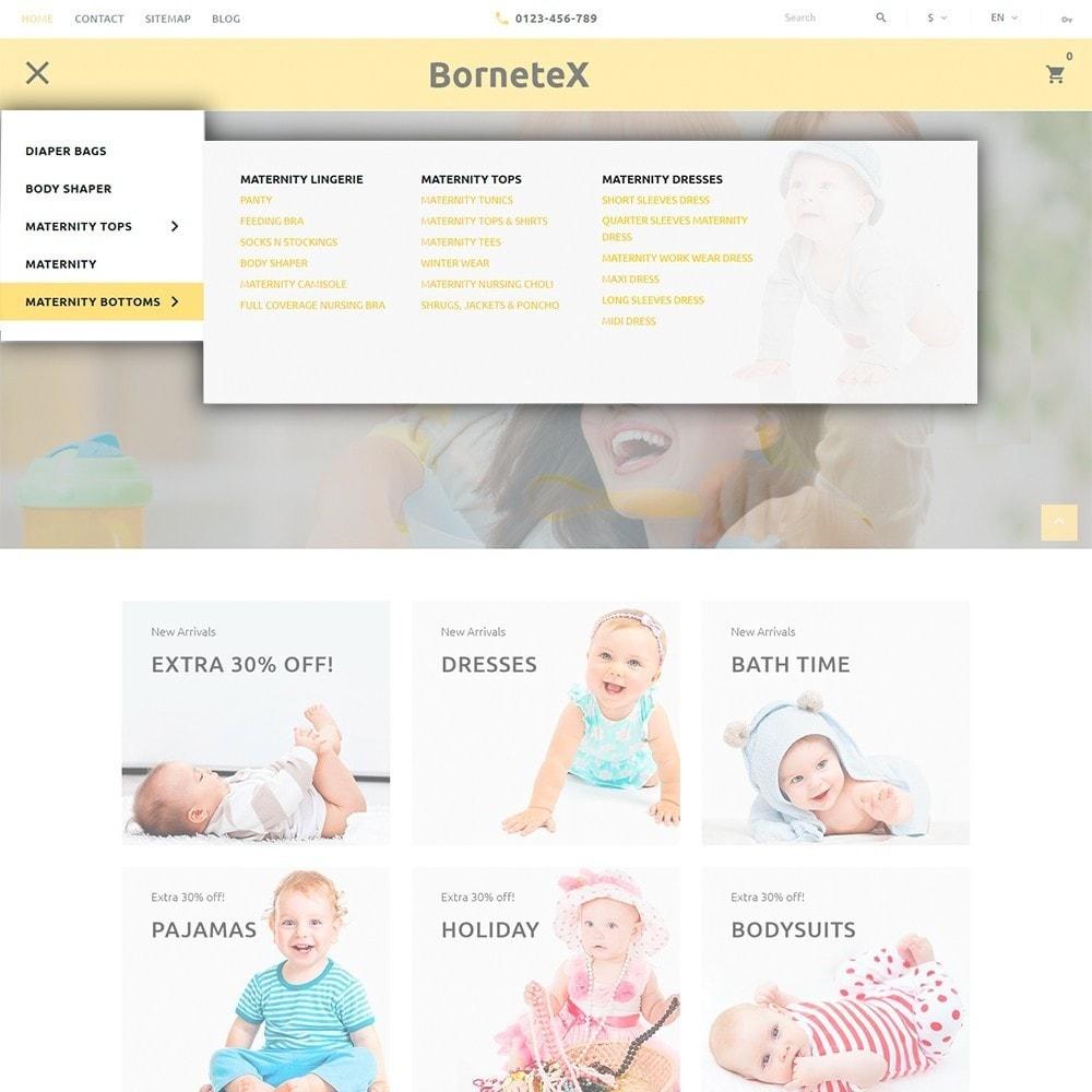 BorneteX - articles de maternité thème PrestaShop