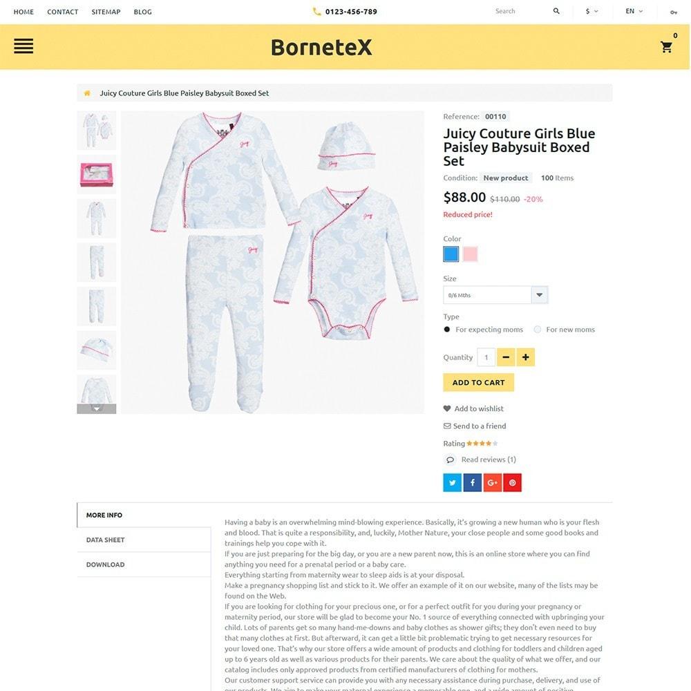 theme - Enfants & Jouets - BorneteX - articles de maternité thème PrestaShop - 4
