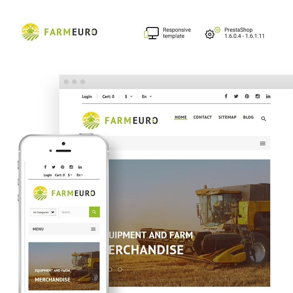 theme - Automotive & Cars - FarmEuro - Agricultural Responsive - 1