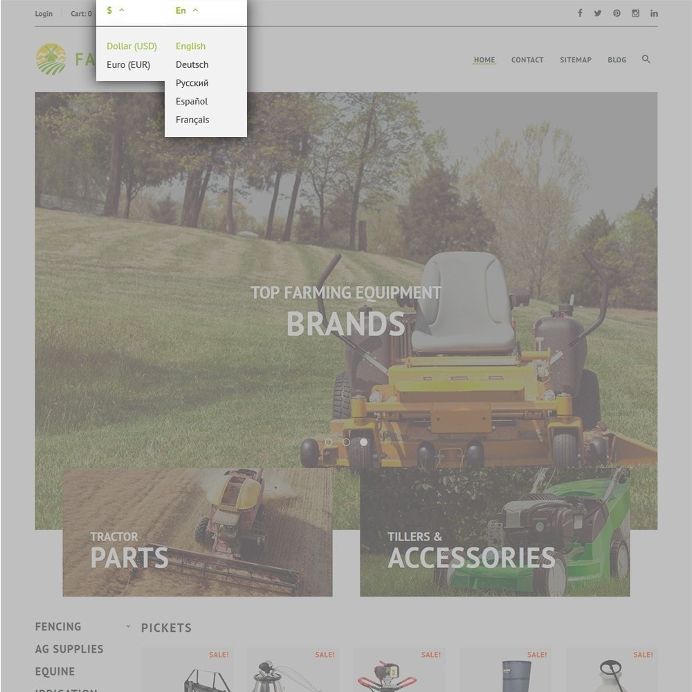 theme - Coches y Motos - Tema de PrestaShop para Sitio de Granjas - 6
