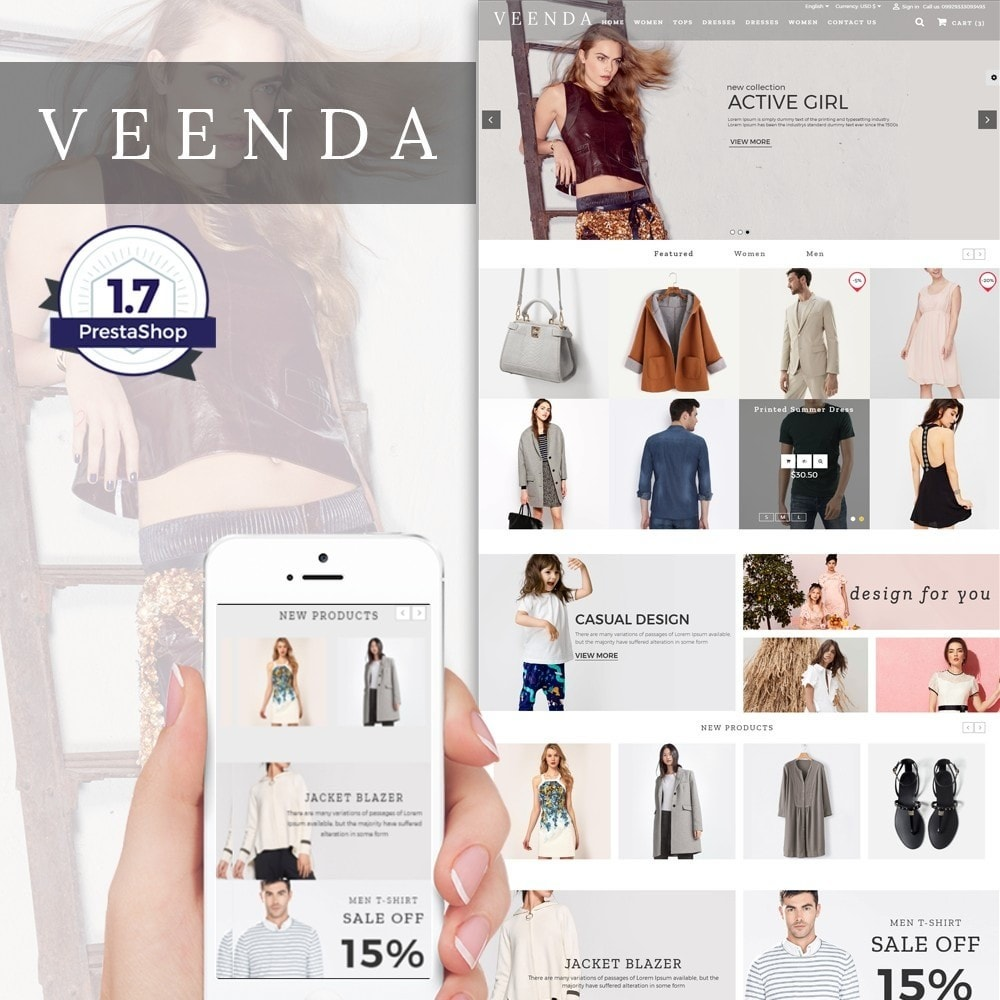 theme - Fashion & Shoes - Veenda Fashion Shop - 1