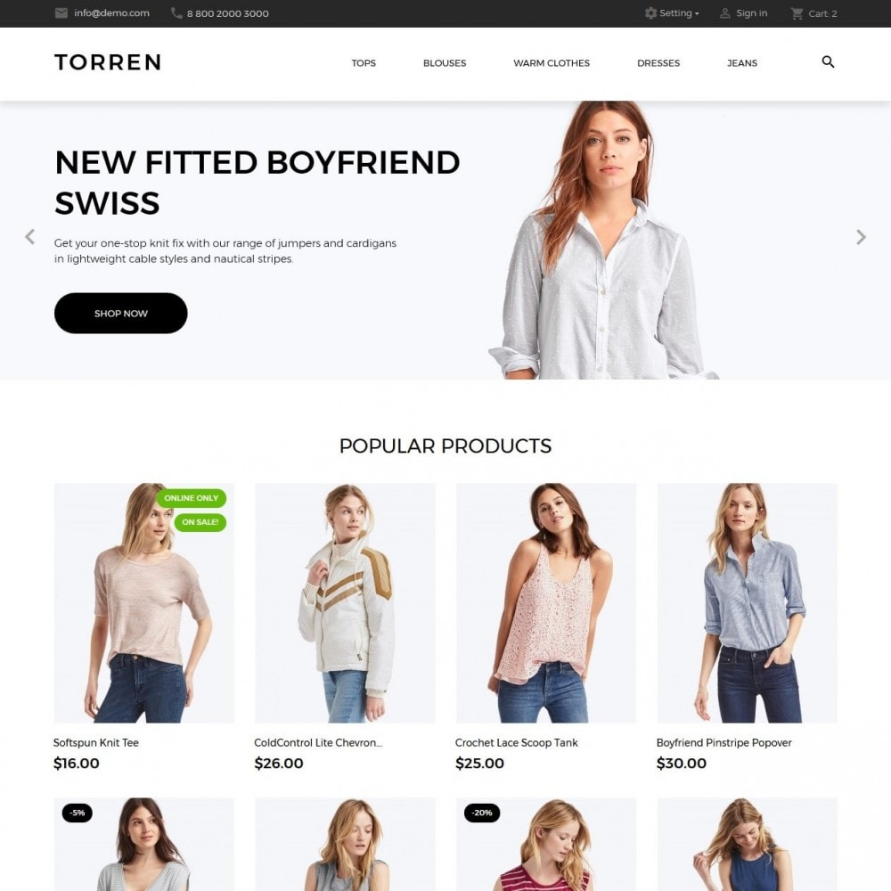 theme - Mode & Chaussures - Torren Fashion Store - 2
