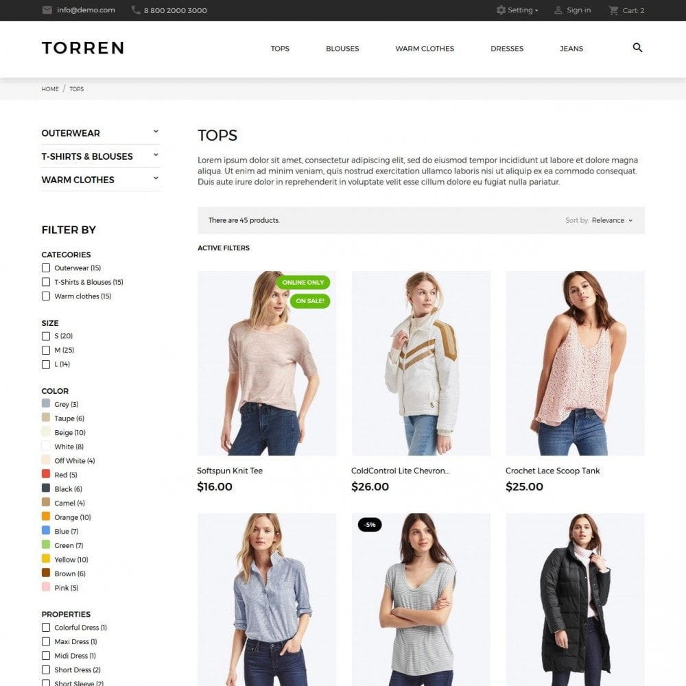 theme - Moda & Calzature - Torren Fashion Store - 5