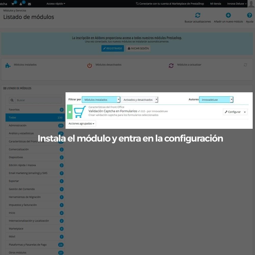 module - Seguridad y Accesos - Añadir Google reCAPTCHA a los formularios de la tienda - 2