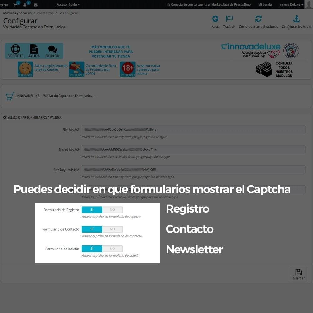 module - Seguridad y Accesos - Añadir Google reCAPTCHA a los formularios de la tienda - 10