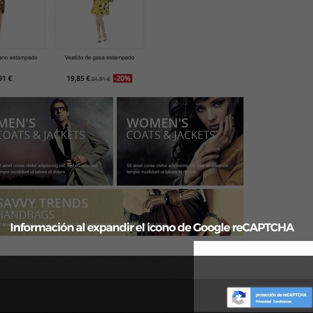 module - Seguridad y Accesos - Añadir Google reCAPTCHA a los formularios de la tienda - 12