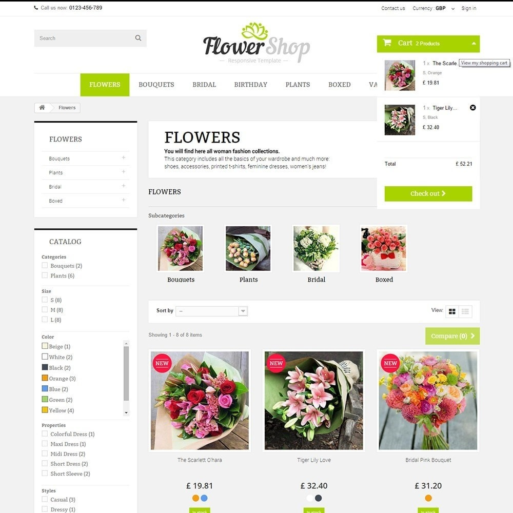 theme - Regalos, Flores y Celebraciones - FLOWER SHOP - 5