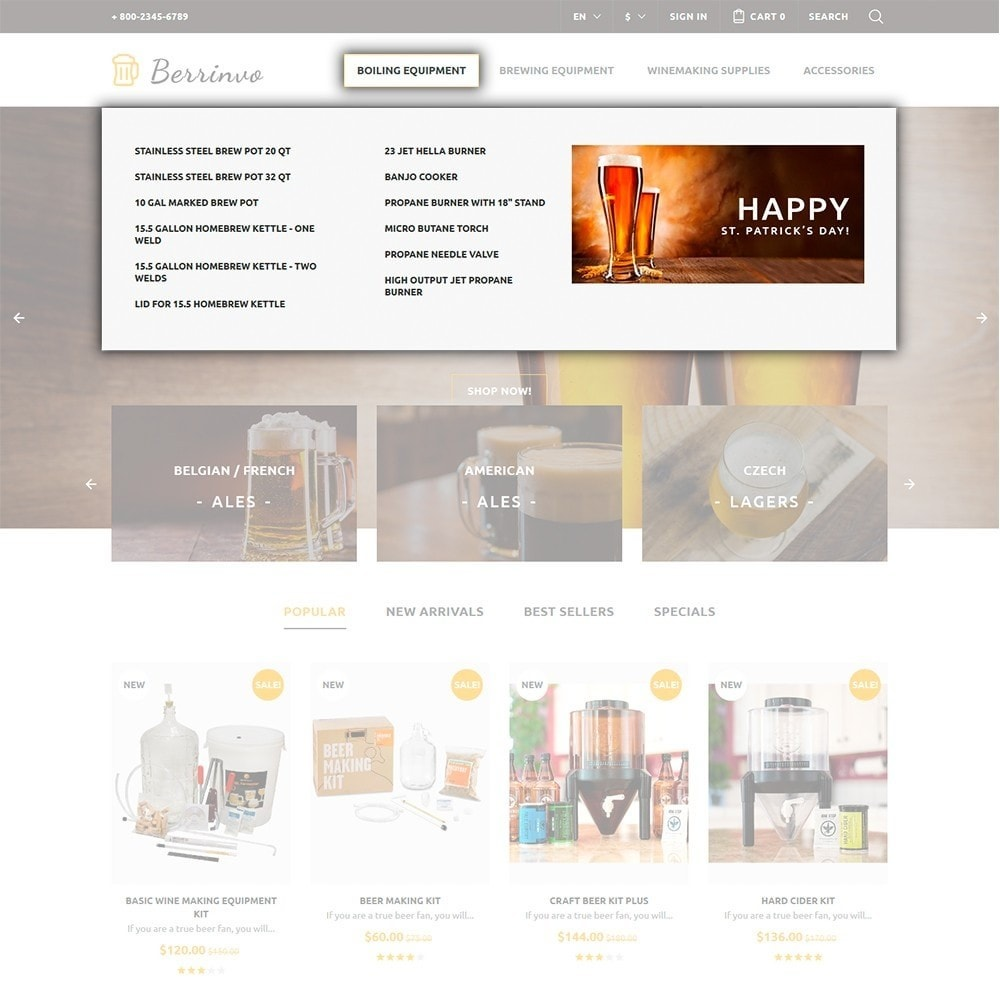 theme - Food & Restaurant - Berrinvo - Brewery Responsive - 3