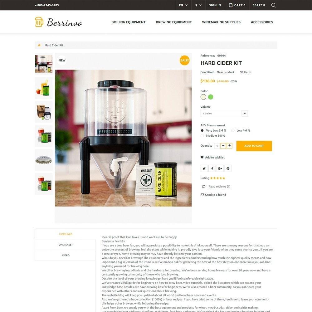theme - Alimentation & Restauration - Berrinvo - Brasserie thème PrestaShop adaptatif - 6