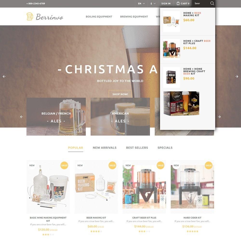theme - Продовольствие и рестораны - Berrinvo - Адаптивный PrestaShop шаблон пивоварни - 4