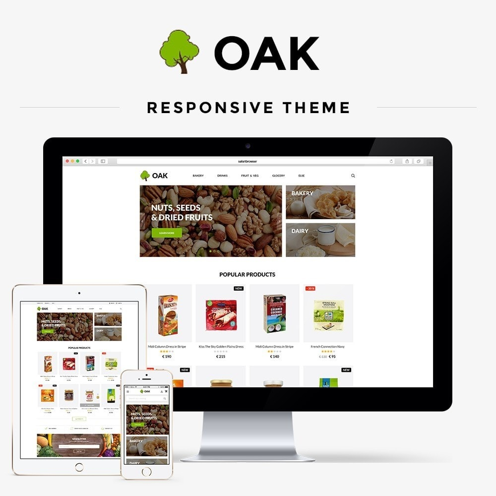 theme - Gastronomía y Restauración - Oak  Food Shop - 1