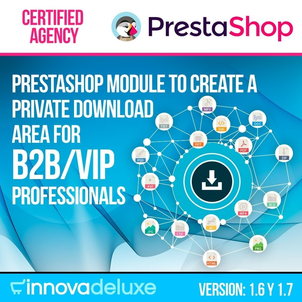 module - Digitale Produkt - Private download zone for authorized customers - 1