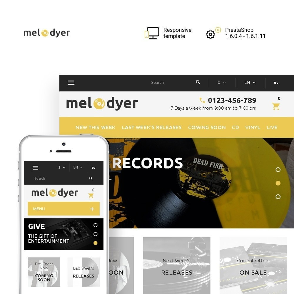 theme - Electronics & Computers - Melodyer - Audio Store Responsive - 1