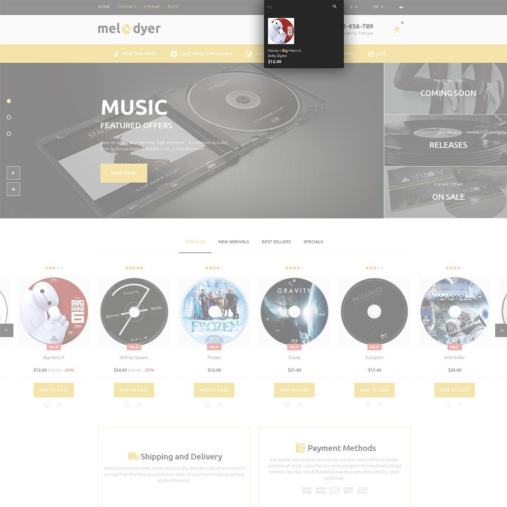 theme - Electronics & Computers - Melodyer - Audio Store Responsive - 5
