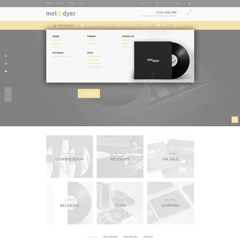 theme - Electronics & Computers - Melodyer - Audio Store Responsive - 6