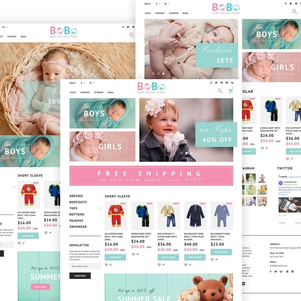 BoBo - PrestaShop шаблон для продажи детских товаров