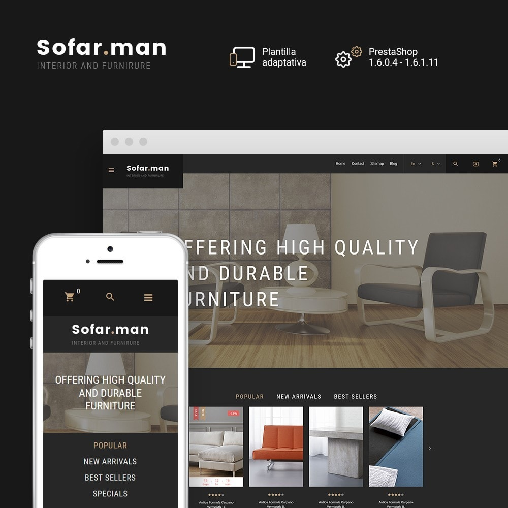 Sofarman - Tema de PrestaShop para Sitio de Muebles