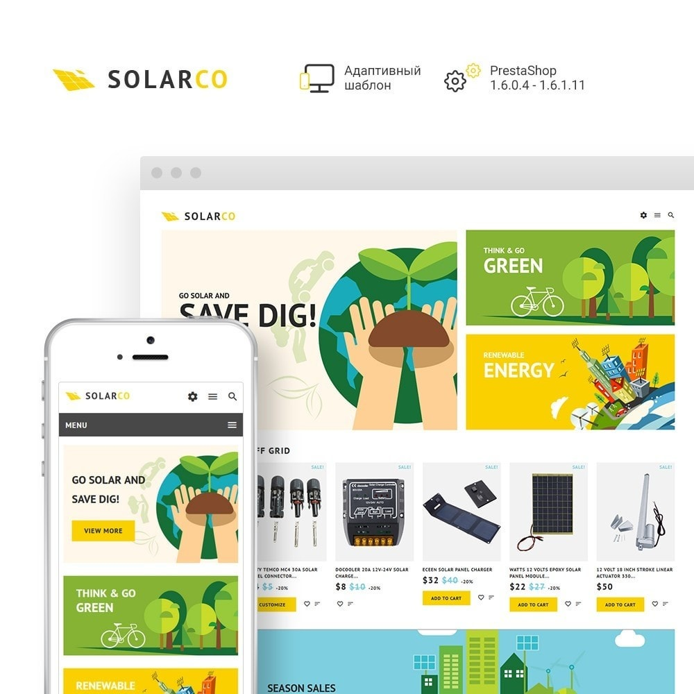 theme - Дом и сад - SolarCo - шаблон по продаже солнечных батарей - 2