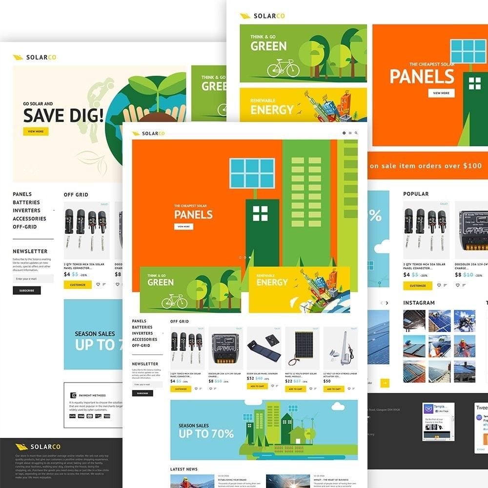 SolarCo - шаблон по продаже солнечных батарей