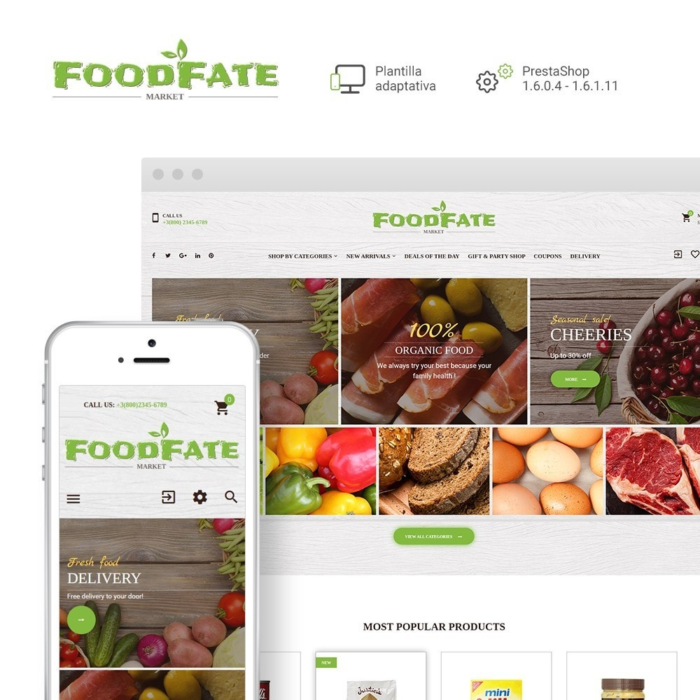 theme - Gastronomía y Restauración - FoodFate -  Sitio de Tienda de Alimentos - 1