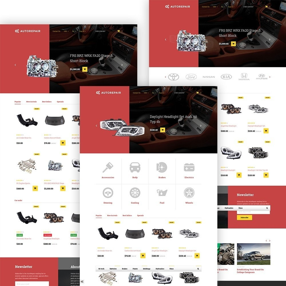 Autorepair - магазин по продаже автозапчастей