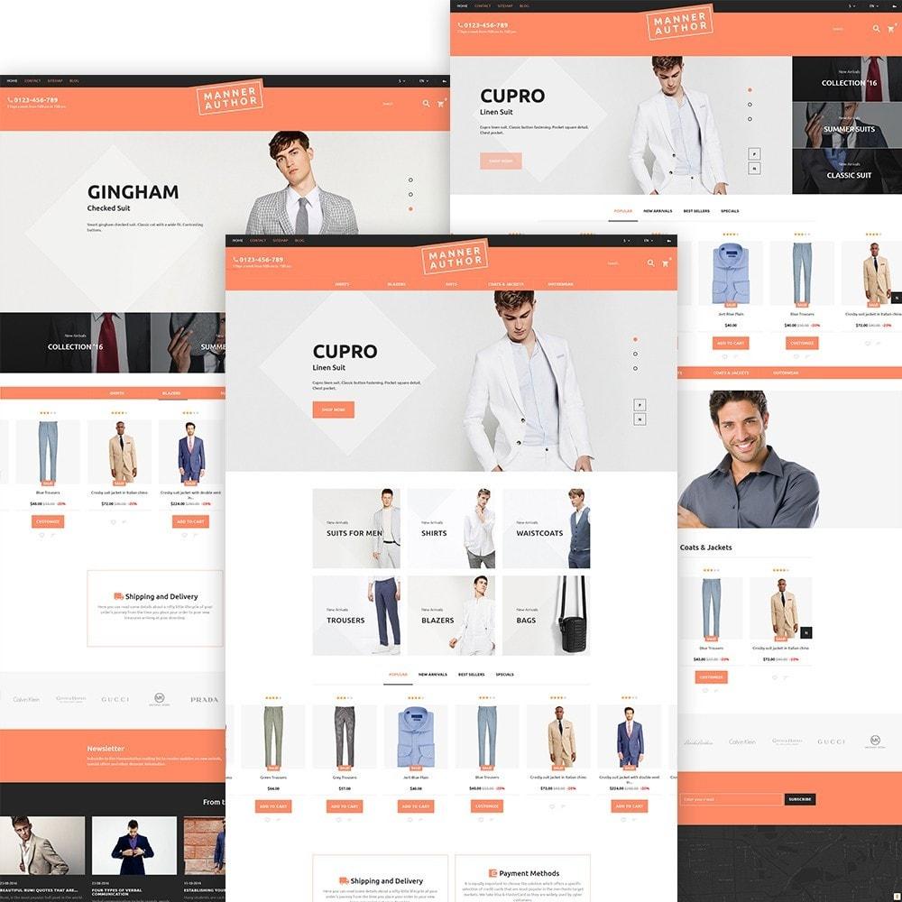 MannerAuthor - шаблон по продаже мужской одежды