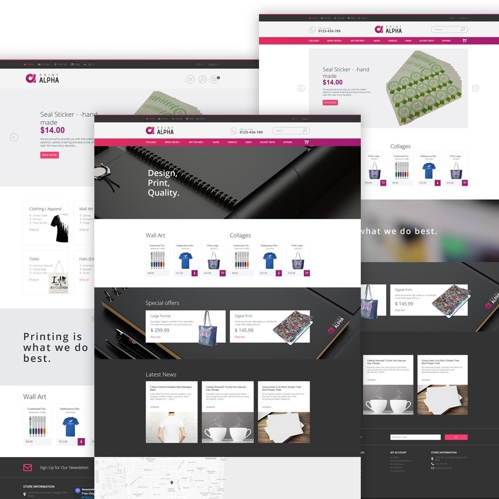 PrintAlpha - Sitio de Tienda de Impresión