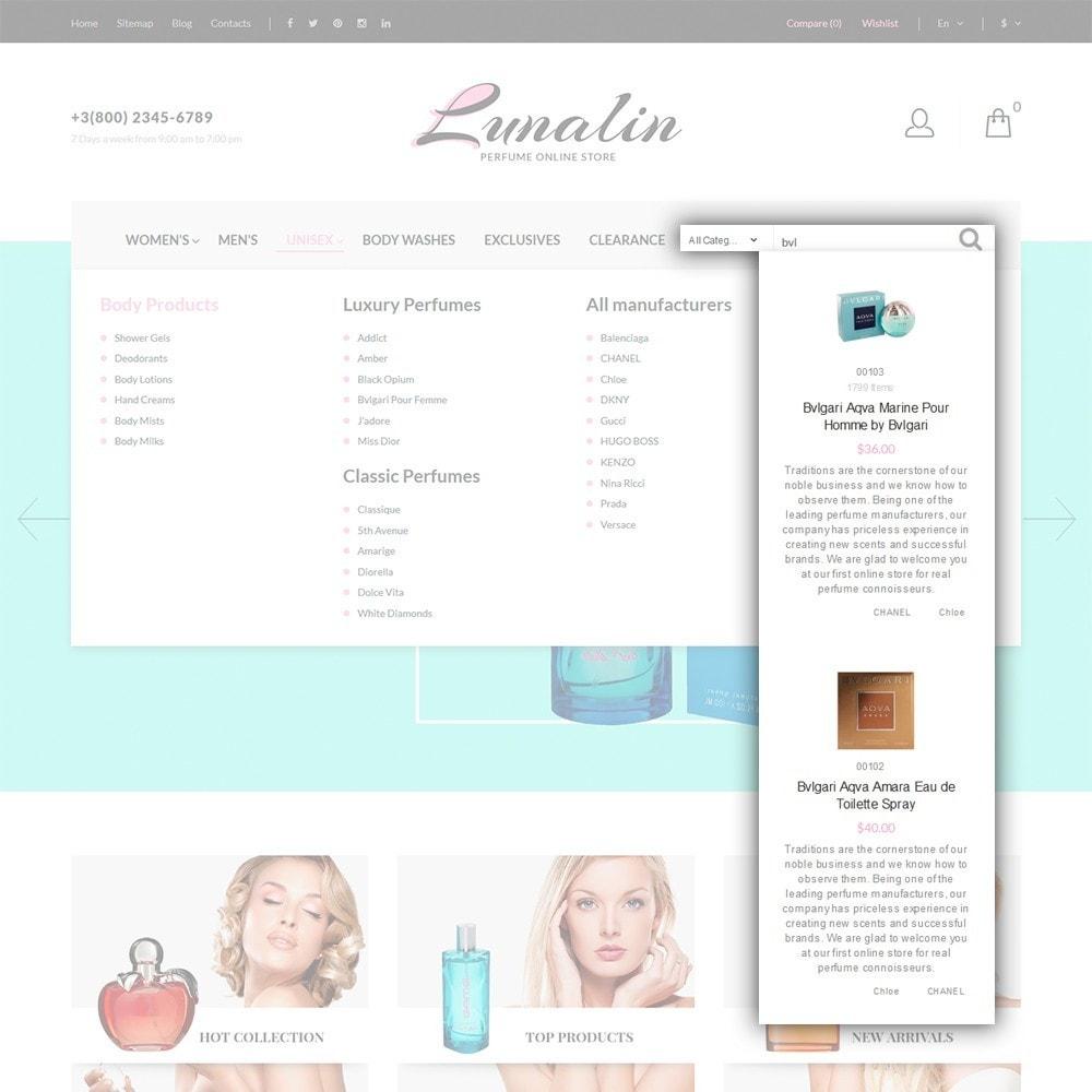 theme - Мода и обувь - Lunalin - шаблон на тему магазин косметики - 7