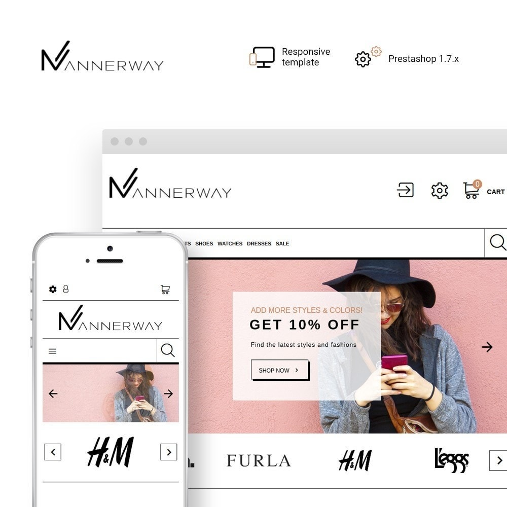 Mannerway - Clothes & Accessories PrestaShop Theme