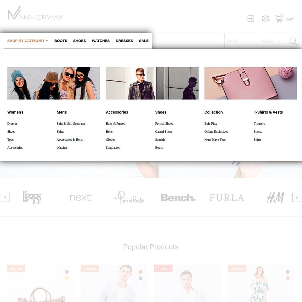 theme - Moda & Calçados - Mannerway - Clothes & Accessories PrestaShop Theme - 3