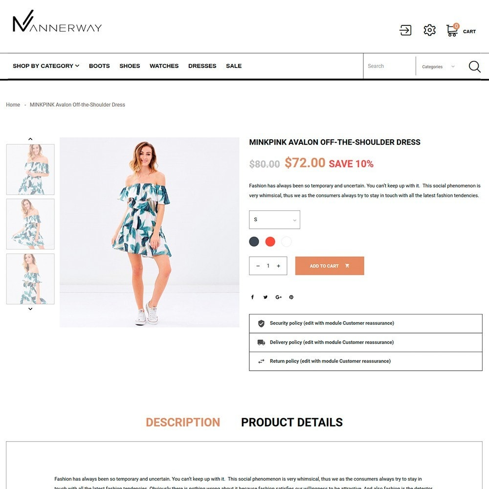 theme - Mode & Schuhe - Mannerway - Clothes & Accessories PrestaShop Theme - 4
