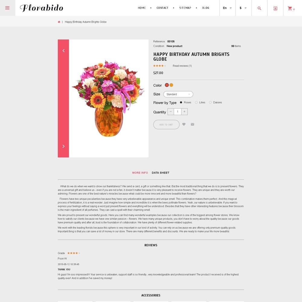 theme - Подарки, Цветы и праздничные товары - Florabido - шаблон цветочного магазина - 2