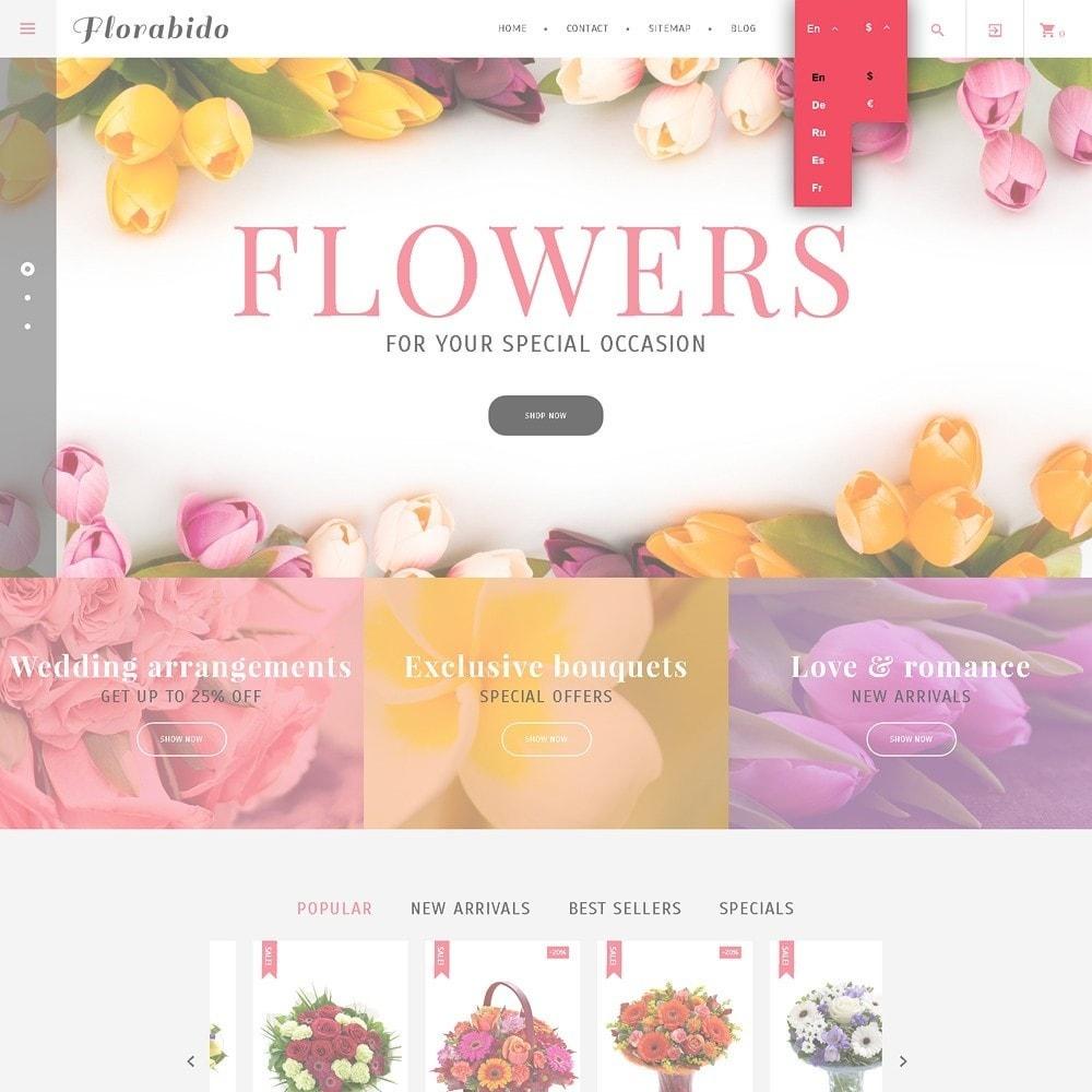 theme - Подарки, Цветы и праздничные товары - Florabido - шаблон цветочного магазина - 3