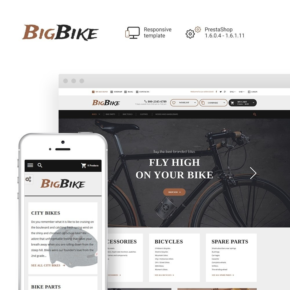 theme - Sports, Activities & Travel - BigBike - Bike Shop Responsive - 1