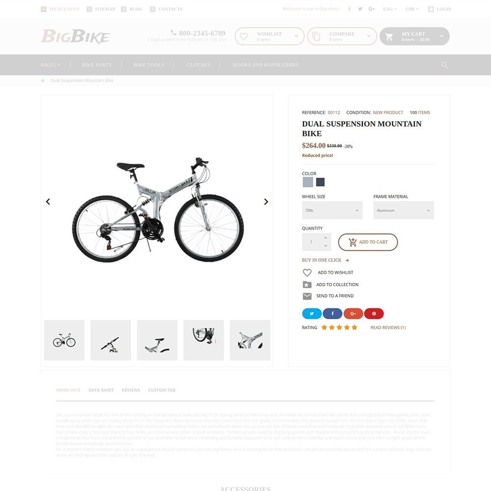 theme - Спорт и Путешествия - BigBike - шаблон по продаже велосипедов - 5