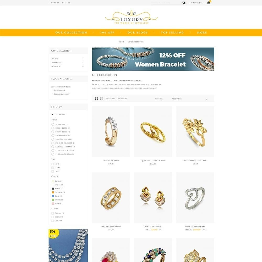theme - Schmuck & Accesoires - Luxury Jewellery Store - 3