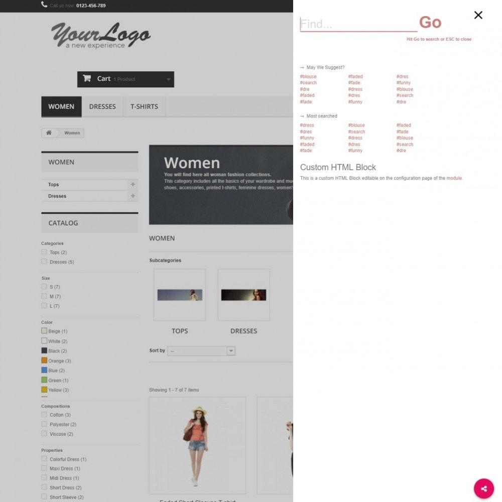 module - Zoeken & Filteren - MEGA Search - Meerdere sjabloon zoekblok - 11