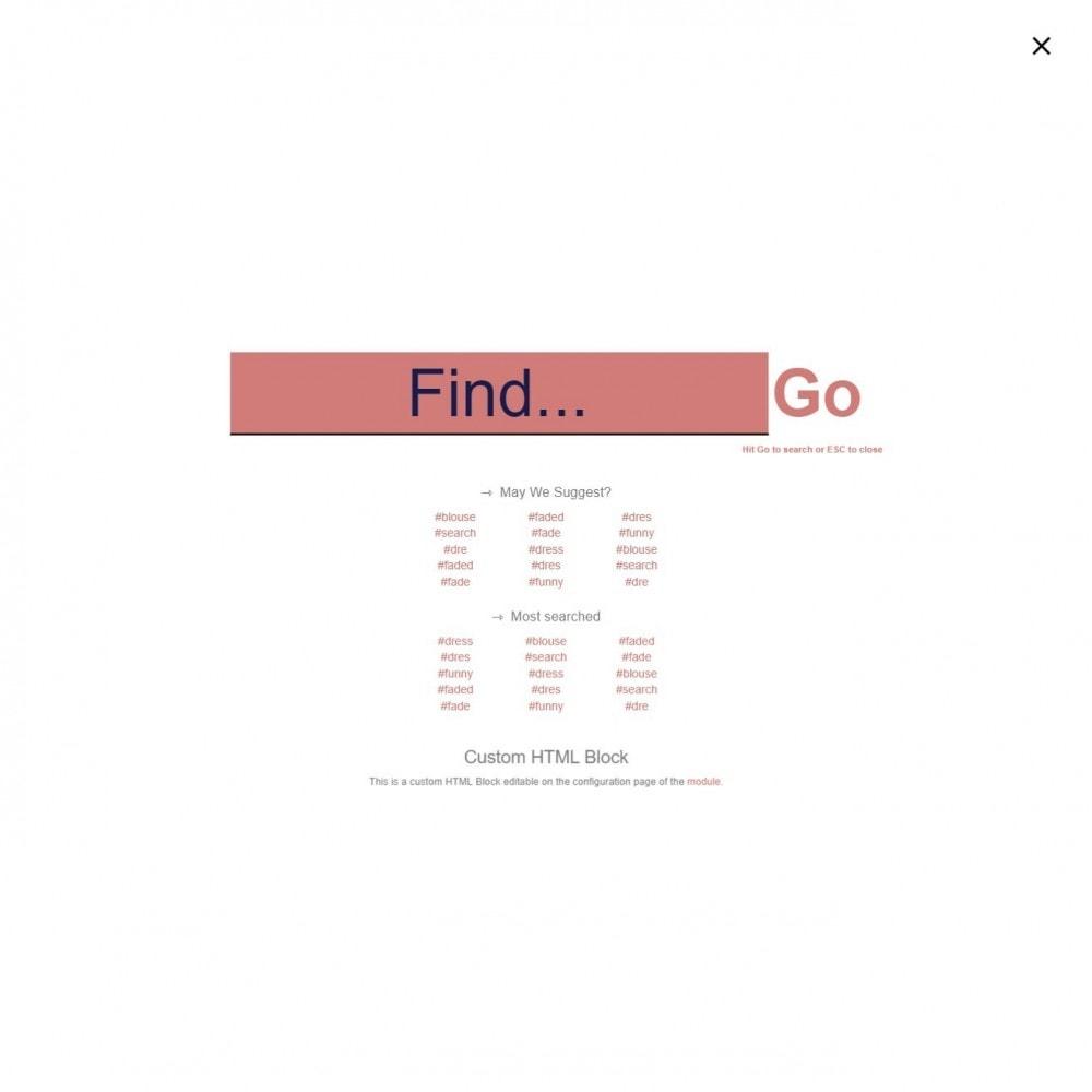 module - Pesquisa & Filtros - MEGA Search - bloco de pesquisa de modelo múltiplo - 12