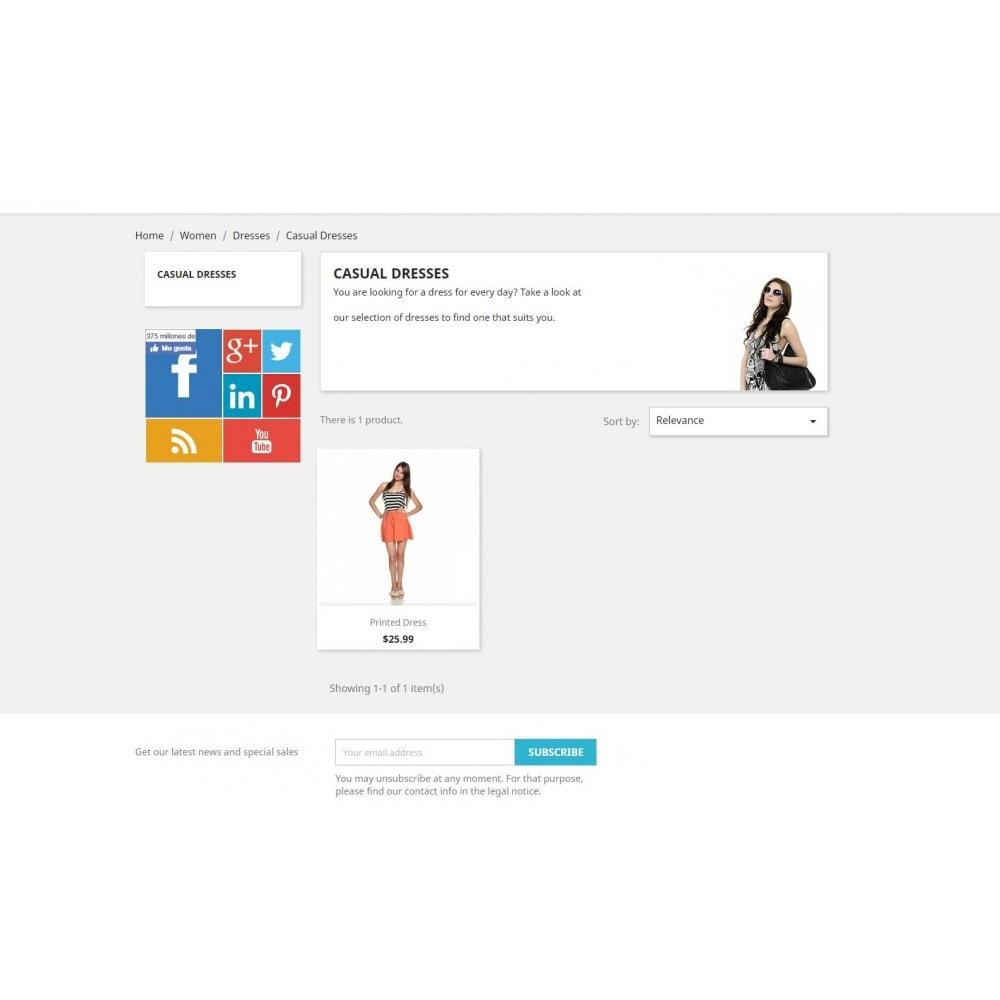 module - Widgety serwisów społecznościowych - Metro Social - Follow module - 3