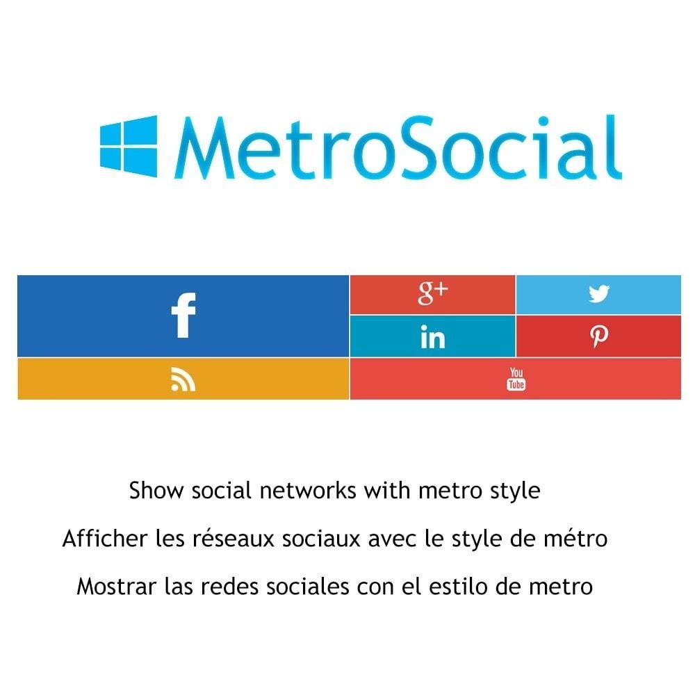 module - Widgets para redes sociales - Metro Social - Follow module - 1