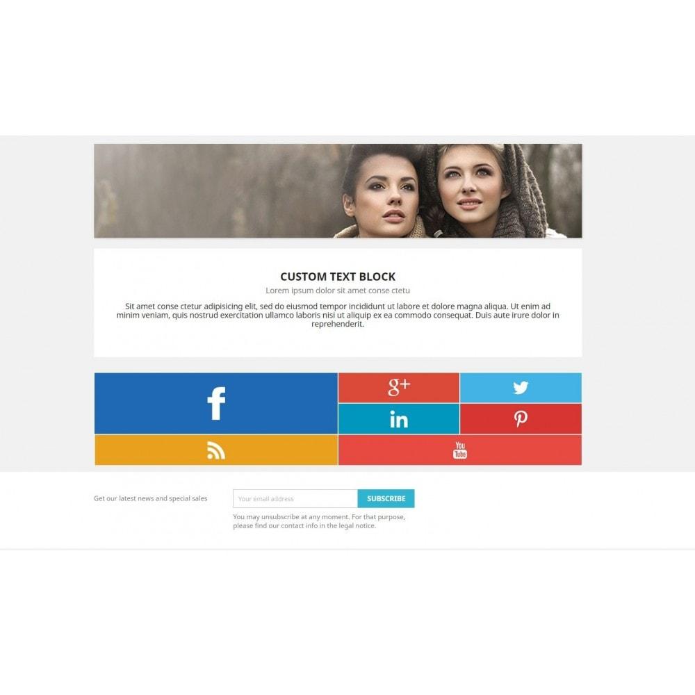 module - Widgets para redes sociales - Metro Social - Follow module - 2
