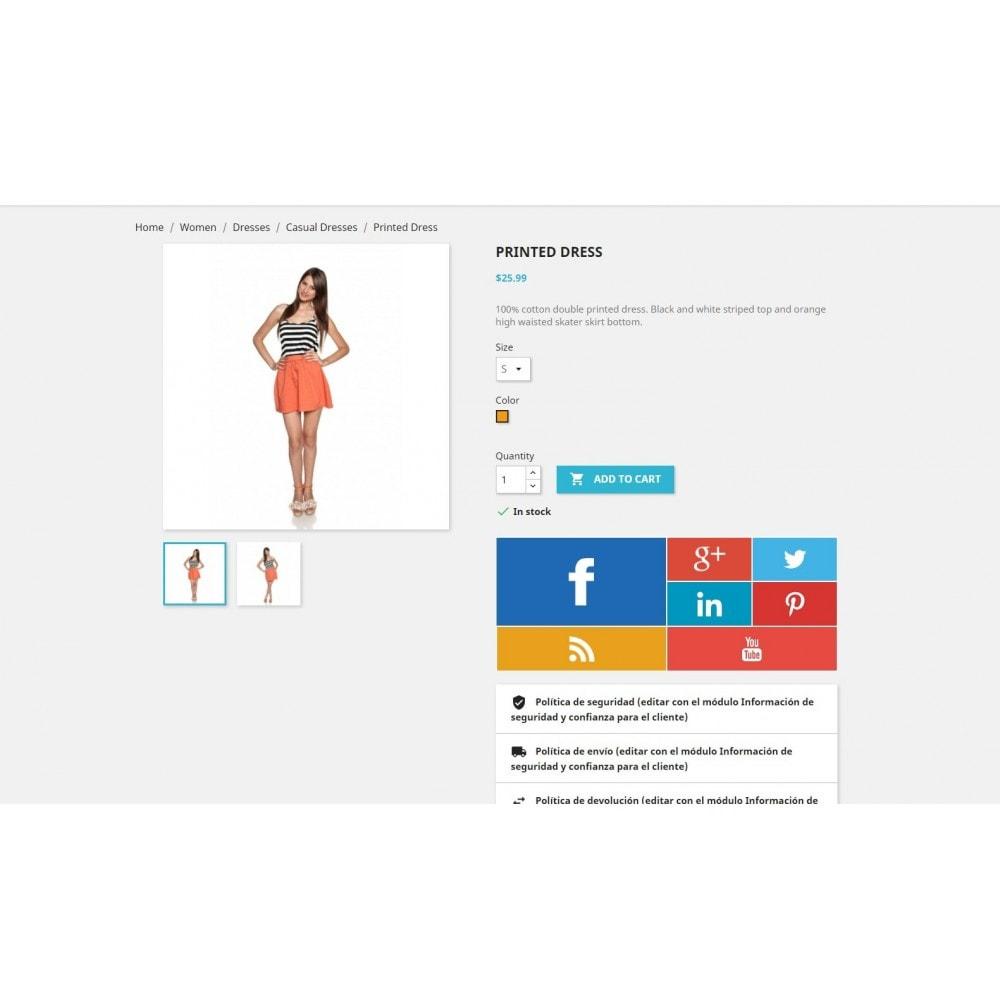 module - Widgets para redes sociales - Metro Social - Follow module - 3