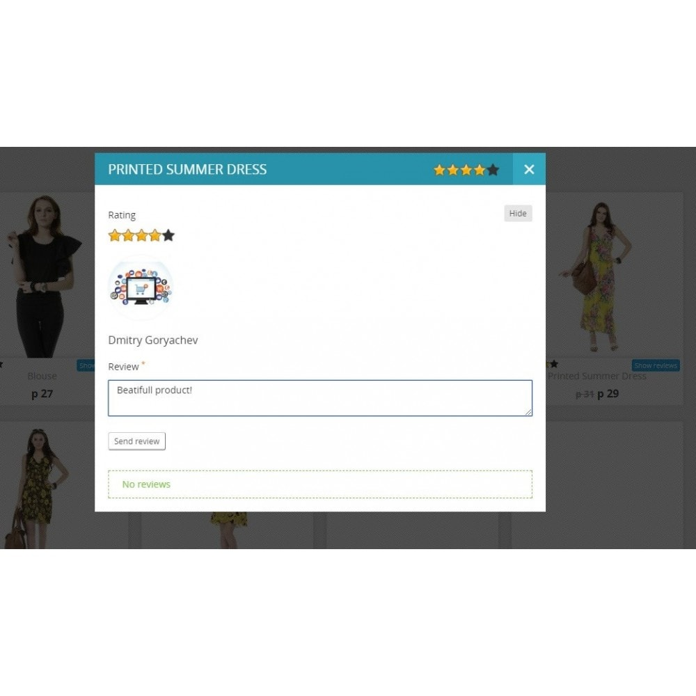 module - Opiniões de clientes - Reviews about product in category and product page - 1