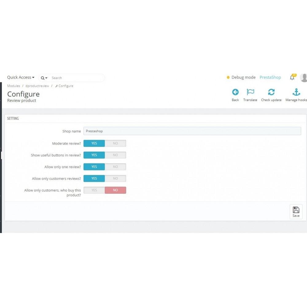 module - Отзывы клиентов - Отзывы о товаре в категории и странице товара - 7