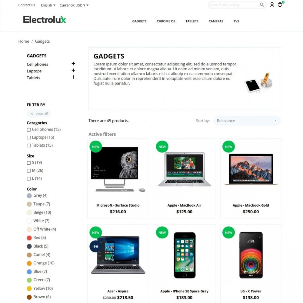 theme - Elektronika & High Tech - Electrolux - High-tech Shop - 5