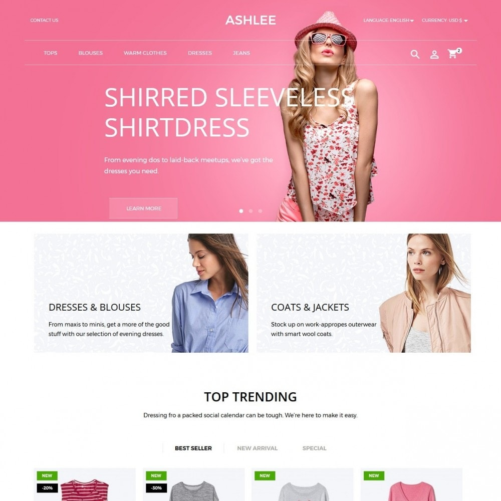 theme - Fashion & Shoes - Ashlee Fashion Store - 2