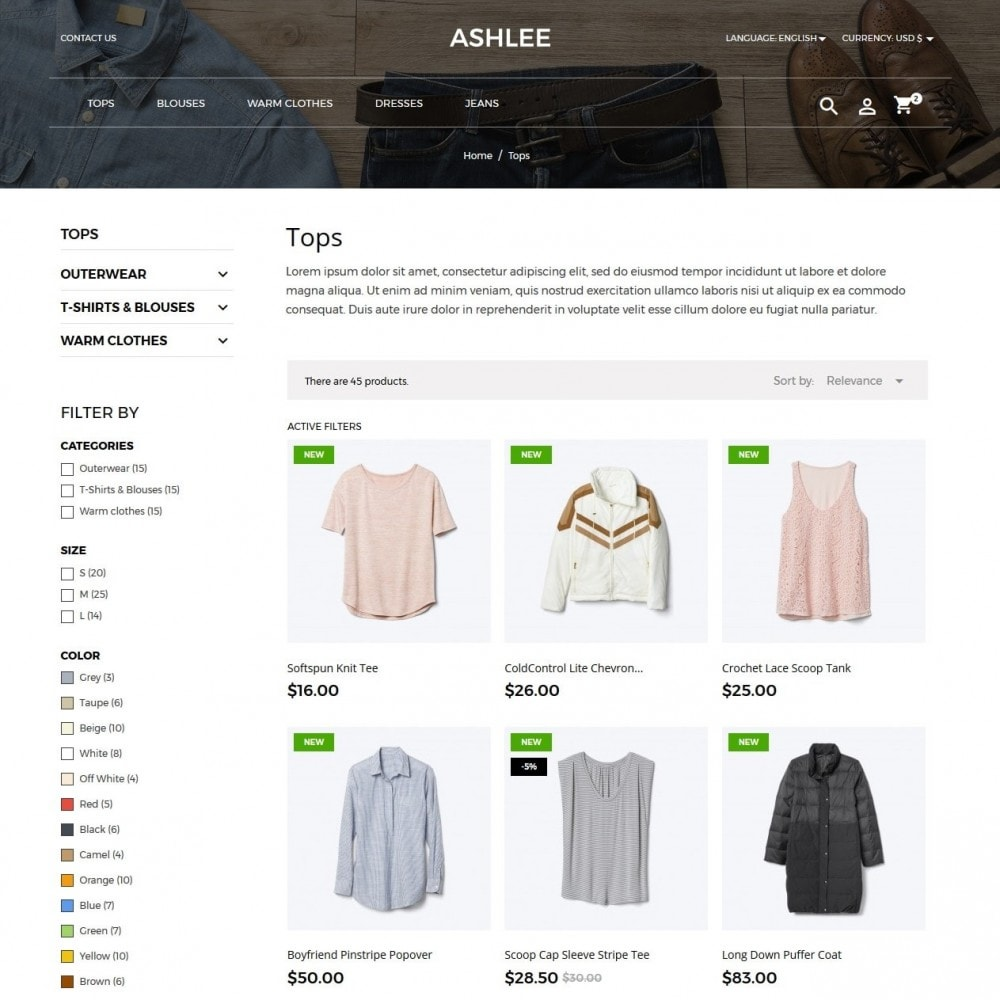 theme - Мода и обувь - Ashlee Fashion Store - 5
