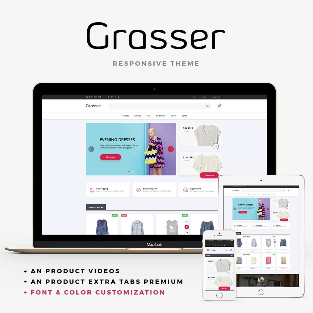 theme - Fashion & Shoes - Grasser Fashion Store - 1